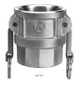 """4"""" Type D Camlock Female Coupler x Female NPT Stainless Hose Fitting <D400SS304"""