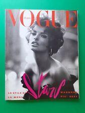 VOGUE Italia Giugno 1990 480 June MADONNA Linda EVANGELISTA NAOMI CAMPBELL Bowie