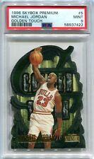1996-97 SkyBox Premium Golden Touch 5 Michael Jordan PSA 9 MINT POP 52 12 Higher