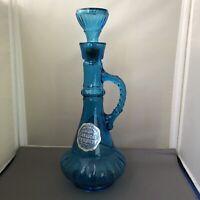 Vtg MCGILL WHISKEY Beautiful GLASS GENIE BOTTLE Blue (Jim Beam) Genie, Jeannie