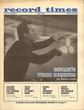RECORD TIMES NEWSPAPER 1964 07 JULY giulini/sargent//richard strauss/gluck/etc