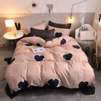 3D Pink Black Love ZHUA3562 Bed Pillowcases Quilt Duvet Cover Set Queen King Zoe