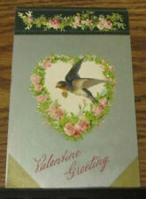 New Listing1908 Vintage Postcard Valentine Greeting Barn Swallow Posted Dayton Tennessee Tn
