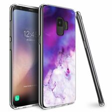 Galaxy S9 Case, Ultra Slim Protective Cover, Purple/Lavender Marble Geode Design