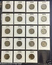 Singapore 1967-1985 20 cents Sword Fish Coin (19 pcs)