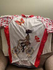 Women's Short Sleeve Cycling Jersey Shirt - EUC. 2xl