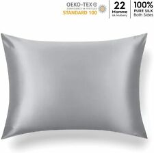"Silk Pillowcase Queen Zipper Mulberry Hypoallergenic Ultra Sleek Smooth 20""x30"""