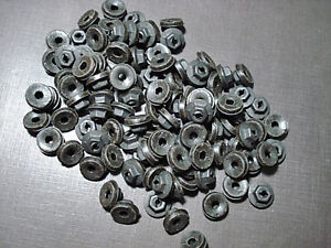 "100 pcs 1/8"" emblem name plate black thread cutting nuts sealer fits LaSalle"