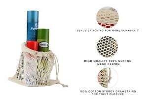Cotton Mesh Bags, Reusable Produce Bags, Single Drawstring – lot