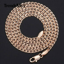 Link Chain Necklace 20 inches 3mm 585 Rose Gold Filled Snake