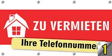 """Werbebanner """"ZU VERKAUFEN"""" / """"ZU VERMIETEN"""" Größe 150x100 cm"""