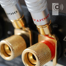 2 x EDGE 24K Gold plated Y Fork Speaker Spade /Amp cable connector - SP2