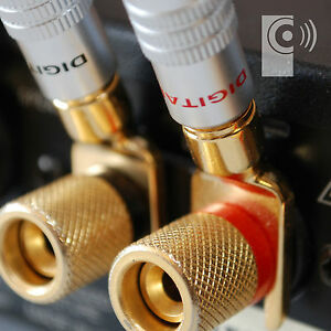 2 x EDGE Gold plated Y Fork Speaker Spade /Amp cable connector - SP2