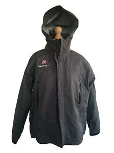 Castelli Cycle Gortex MTB waterproof breathable Rain Jacket XL. Detachable shell