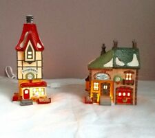 Dept 56 North Pole Series Rimpy's Bakery & Orly's Bell & Harness Supply 1991