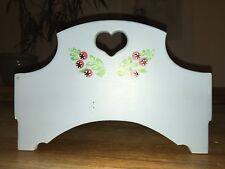 Vintage Wood Toy Doll Bed Child's Play Furniture Needs Repainting