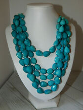 NECKLACE ANTHROPOLOGIE TURQUOISE 5 STRANDS SEREFINA BEADS ADJUSTABLE NWT  $68