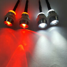 RC Model Car 4 LED Light Sets 8mm Headlamps 2x Red & 2x White Lamps