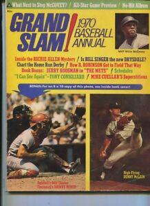 Grand Slam 1970 Baseball ANNUAL Willie McCovey Johnny Bench  Bill Singer MBX100