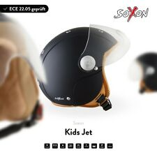 SOXON SK-55 Night Enfant Moto Vespa Casque Demi-Jet Scooter Pilote XXS XS S ECE