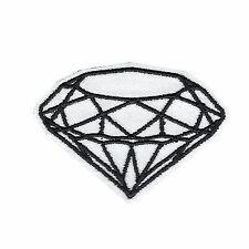 White Diamond DIY Iron on Embroidered Applique Patch