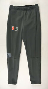 Miami Hurricanes adidas Athletic Pants Men's Gray Poly NEW S
