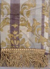 JCPenney Home Collection Darien Imperial Sheer Valance - Gold Silver Gray