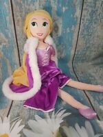 "Disney Store Princess Tangled Rapunzel & Removable Cloak 20"" Large Plush"