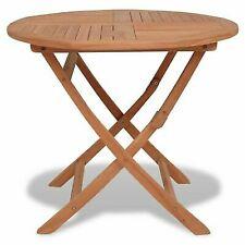 vidaXL Outdoor Dining Table Round Solid Teak