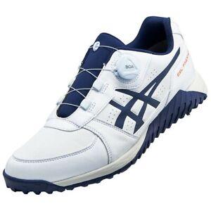 ASICS Golf Shoes GEL-PRESHOT BOA Soft Spike Wide 1113A003 White x Navy Japan NEW