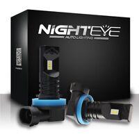 Nighteye H11 H8 H9 160W LED Fog Light Bulb Car Driving Lamp DRL 6500K Cool White