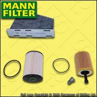 SERVICE KIT for VW GOLF MK5 (1K) 2.0 TDI MANN OIL FUEL CABIN FILTERS (2005-2010)