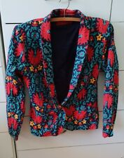 TIGERLILY Jacket Blazer Floral Boho Aqua Red Paisley Nina Proudman Size 6 B8