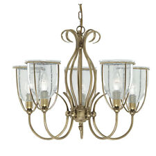 Searchlight Silhouette 5 Lights Antique Brass Ceiling Pendant Chandelier Fitting