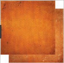 BoBunny 12x12 papel scrapbooking Doble Dot, naranja quemado Vintage X 2 Hojas