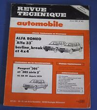 Revue technique  RTA 451 Alfa romeo Alfa 33 berline break et 4x4