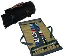 TOOL BOX ROLL 32 POCKET SOCKET HOLDING POUCH CHISEL WRENCH HOLDER ORGANIZER WRAP