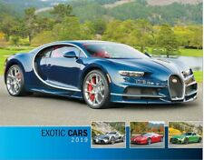 EXOTIC CARS 2019 WALL CALENDAR FEATURING BUGATTI CHYRON HYPERCAR ON THE COVER