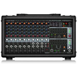 BEHRINGER PMP2000D 14 Channel 2x1000w Stereo Klark Teknik FX Powered Mixer