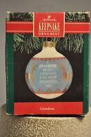 Hallmark - Grandson - Makes Christmas More Wonderful - Globe - Classic Ornament