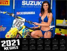 2021 MX GIRLS DELUXE WALL CALENDAR Motocross Dirt Bike Pin Up Girls