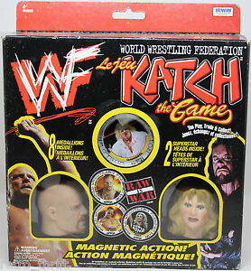 WWF WWE Katch the Game Stone Cold Steve Austin Sable Gangrel Magnetic Action