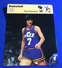 Pistol Pete Maravich 1977 Sportscaster Card