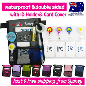 """NURSES POUCH WAIST BAG """"extra pocket"""" QUICK PICK BAG +FREE ID HOLDER &CARD COVER"""