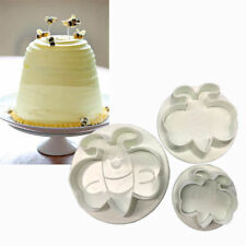3PCS Bee Shape Biscuit Cookie Plunger Cutter Mould Fondant Cake Mold Tool