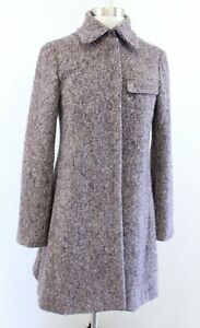 Vanessa Bruno Purple Multi Color Speckle Tweed Wool Jacket Coat Size 38 France