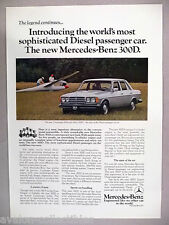 Mercedes-Benz 300D PRINT AD - 1977 ~~ diesel