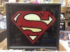 Vintage 80s DealersOnly Advertising Dc Comics Superman 12x12 Box Light Sign Rare