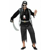 Costume uomo Carnevale Pirata Fantasma Halloween zombie travestimento party