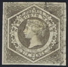 New South Wales 1854 Diadem SG96 6d Greyish Brown Very Fine Used